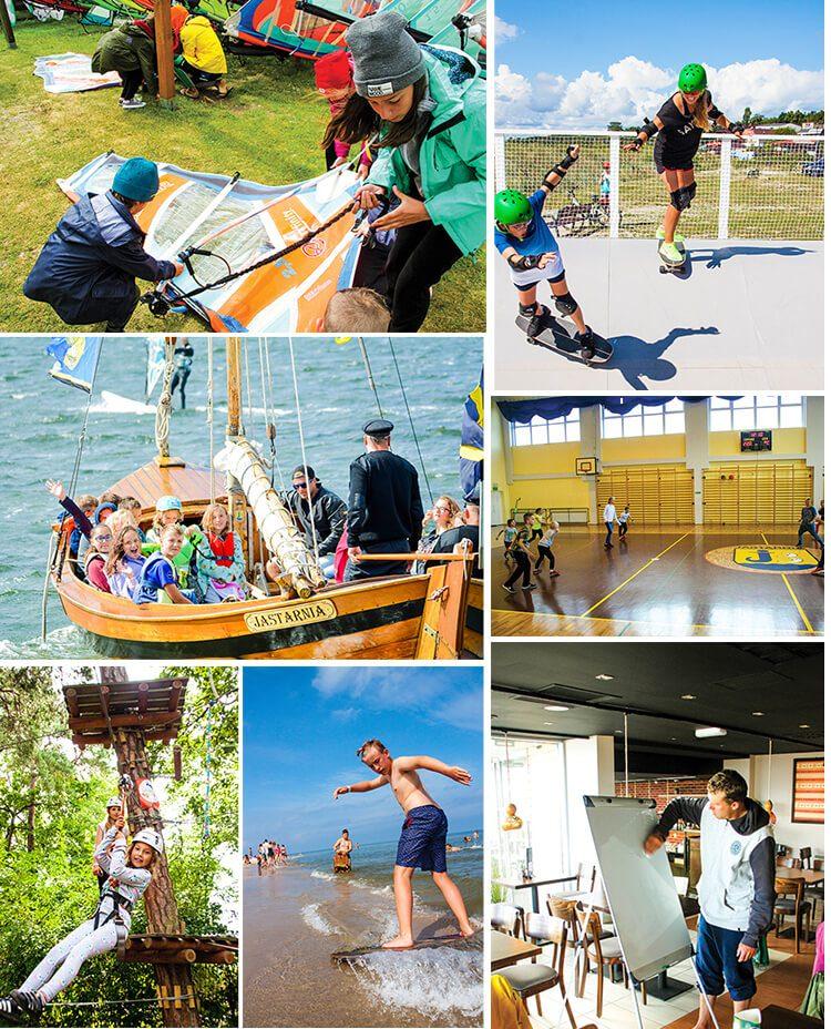 zabierz dzieciaki na Obózy windsurfngowe