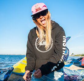 Sara - instruktor kitesurfingu